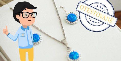 Recenzia: sada šperkov so syntetickým opálom a kryštálom Swarovski náušnice a prívesok